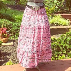 "Vintage Style ""Chaps Denim"" Sz 10 Long Skirt"